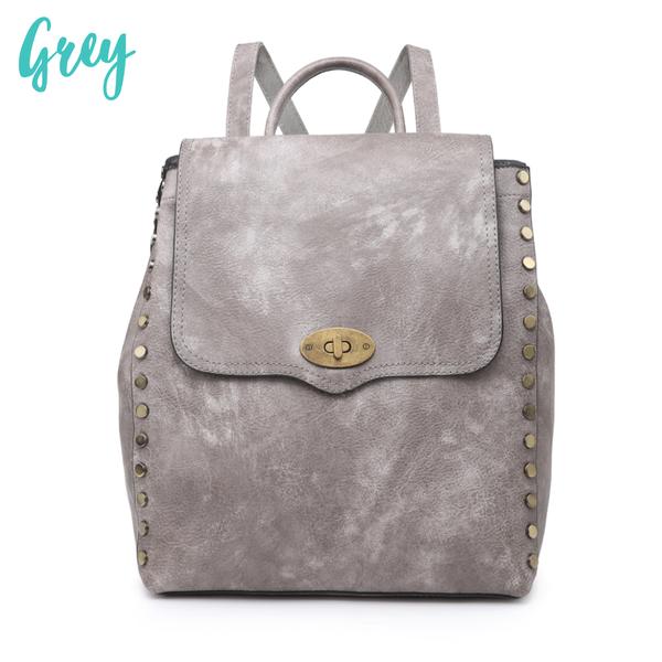 Bex Distressed Backpack *Final Sale* - Grey