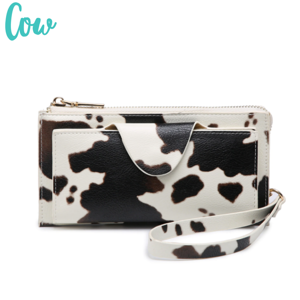 Kyla RFID Wallet with Snap Closure *Final Sale* - Cow