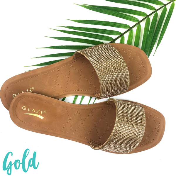 Shimmer in the Sun Sandals *Final Sale* - Gold