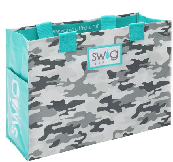 Incognito Camo Swig Laminated Tote Bag *Final Sale*