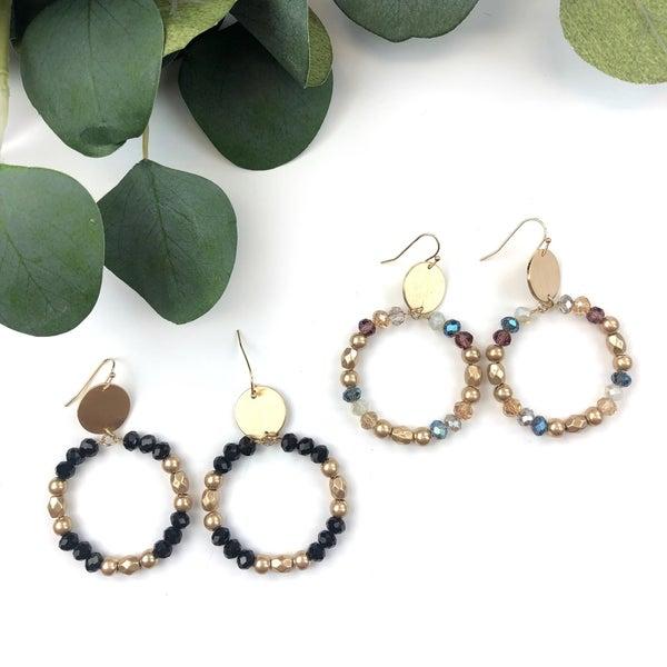 Hoop & Bead Earring