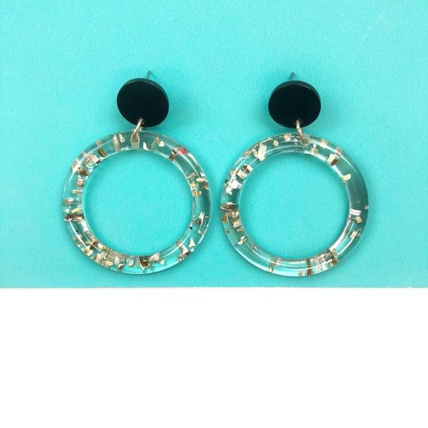 In Good Spirits Gold Foil Earrings *Final Sale*