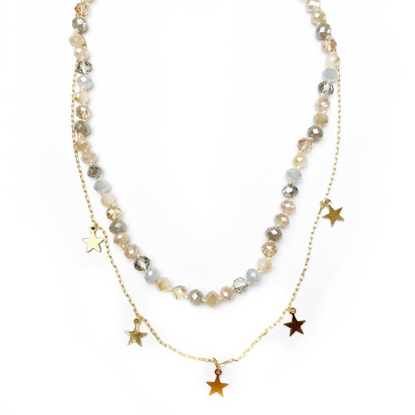 Natural Star Beaded Necklace
