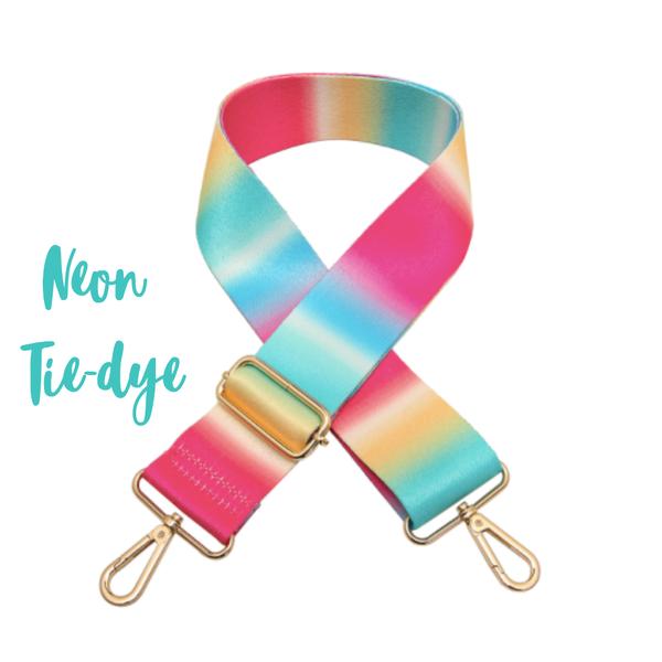 Adjustable Guitar Strap *Final Sale* - Neon Tie-Dye