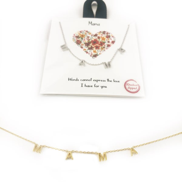 Mama Block Necklace