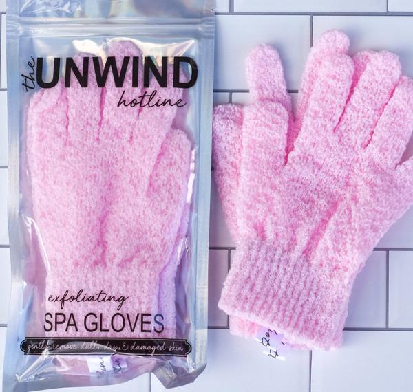 Exfoliating Spa Gloves *Final Sale* - Pink