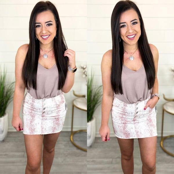 Button It Up Denim Skirt