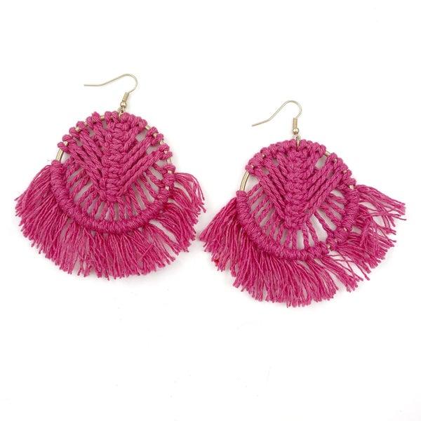 Woven Fan Earrings-FINAL SALE
