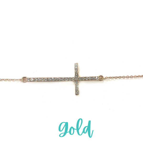 Find The Way Cross Necklace *Final Sale* - Gold