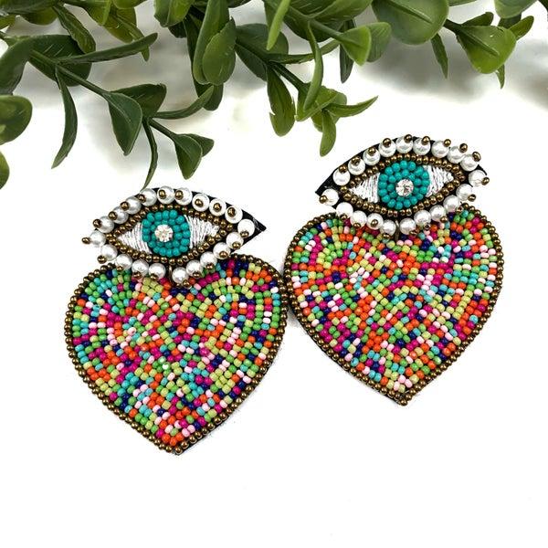 Eye + Heart Earrings