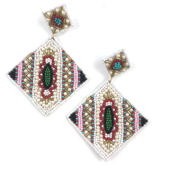 Take A Trip Out West Seed Bead Earrings *Final Sale*
