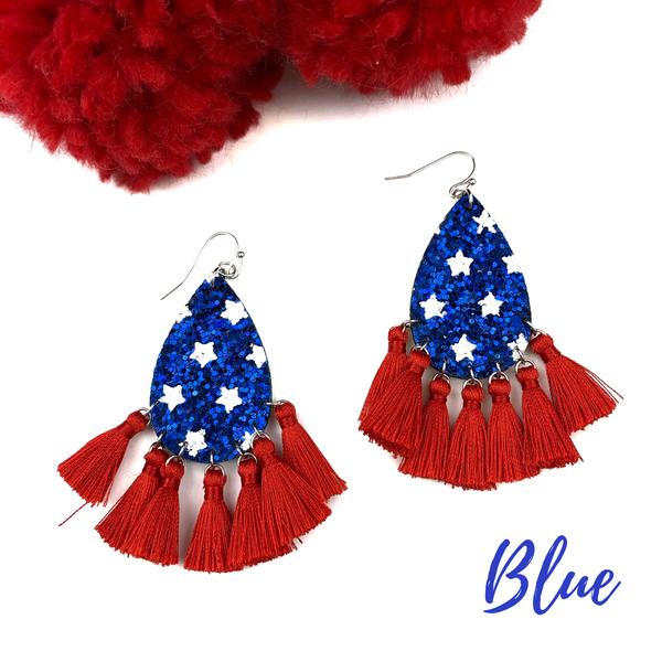 USA Tassel Earrings