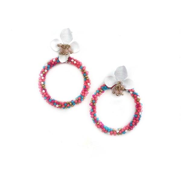 Flower + Hoop Earrings *Final Sale*