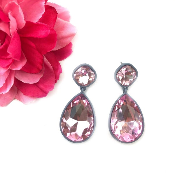 Iridescent Rhinestone Earrings *Final Sale*