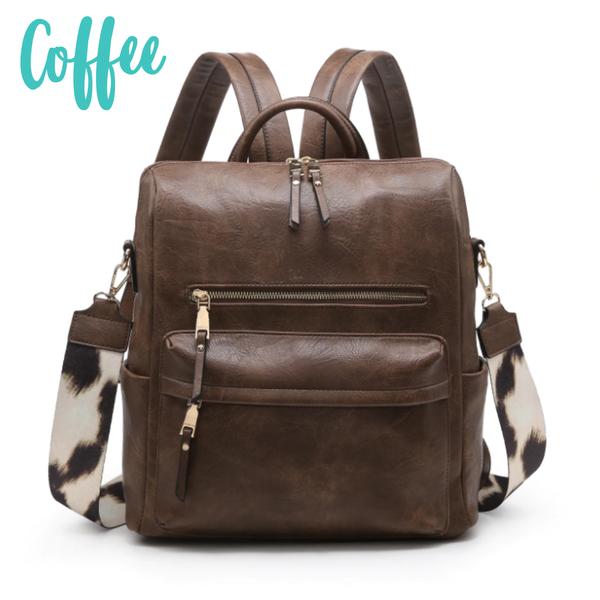 Amelia Convertible Backpack *Final Sale* - Coffee