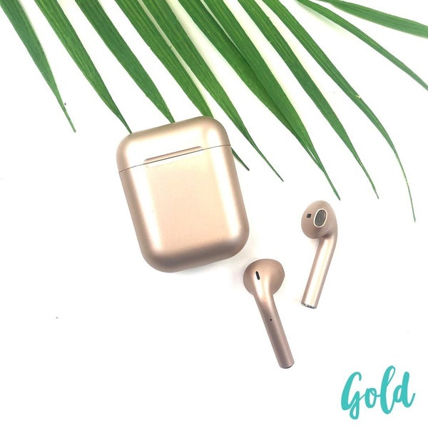 Satin Finish Wireless Airpods *Final Sale* - Gold
