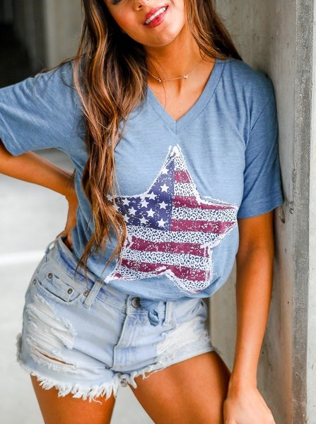Patriotic Star T-Shirt - FINAL SALE