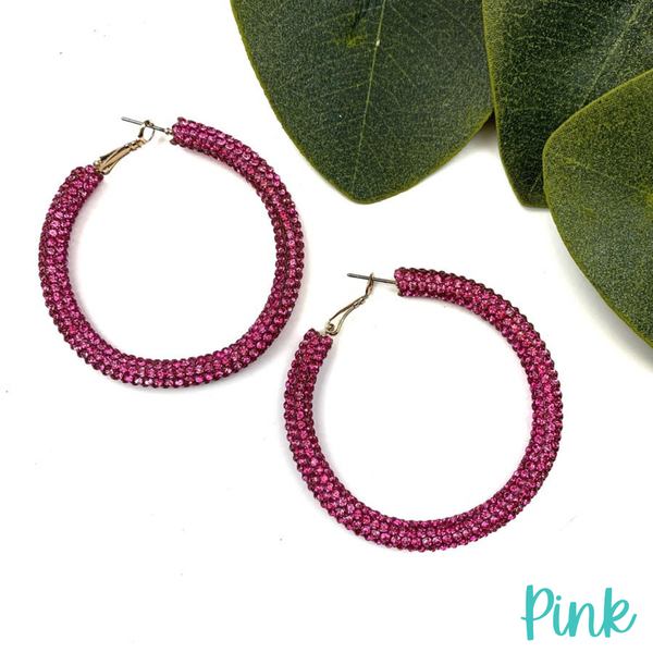 Blinded by the Light Hoops *Final Sale* - Pink