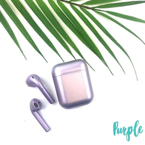 Satin Finish Wireless Airpods *Final Sale* - Purple