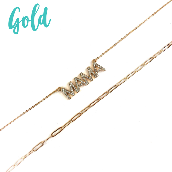 Mama Layered Necklace *Final Sale* - Gold