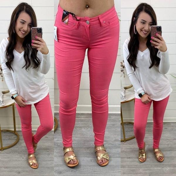 YMI Hyperstretch Skinnies *Final Sale* - Pink