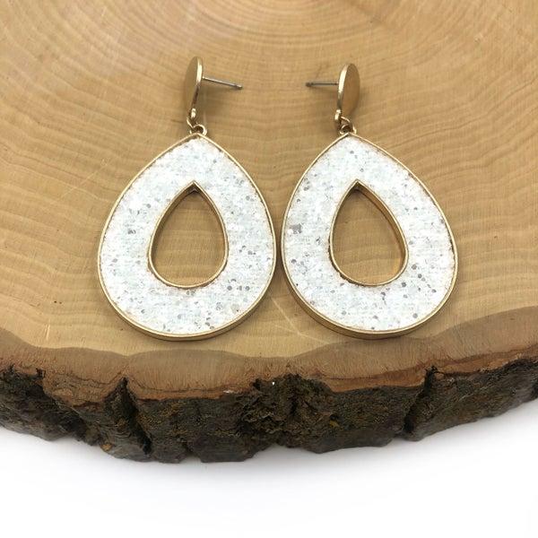 Glitter Teardrop Earrings *Final Sale*