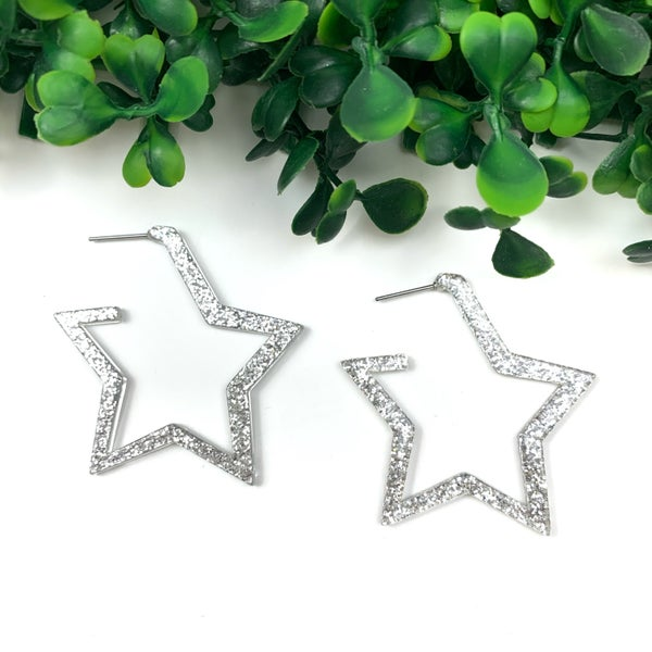 The Lacy Star Hoops *Final Sale*
