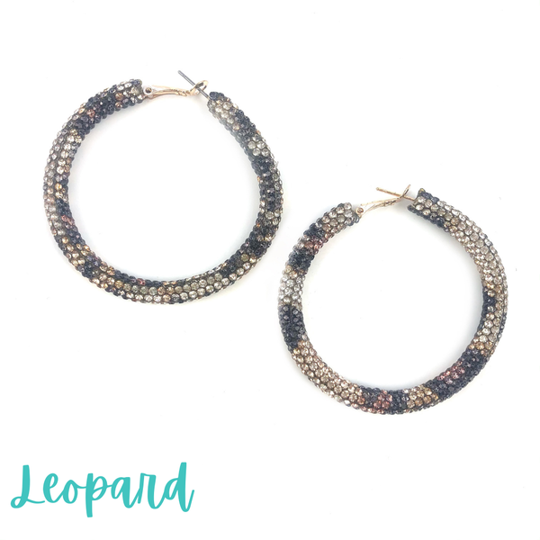 Blinded by the Light Hoops *Final Sale* - Leopard