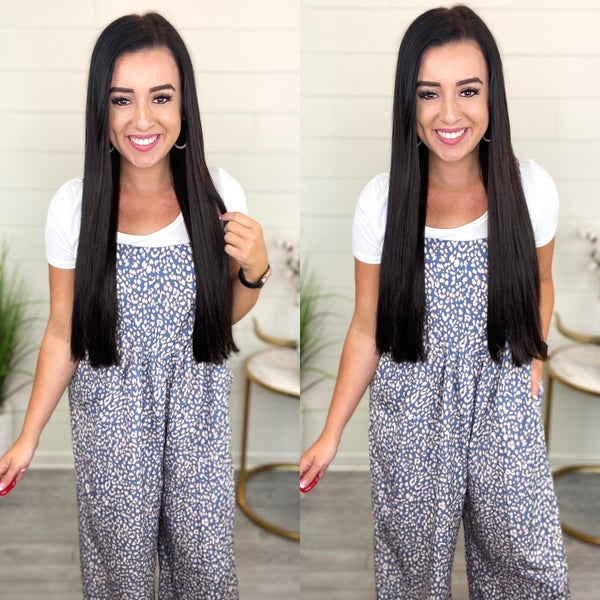 The Key To My Heart Animal Print Jumpsuit