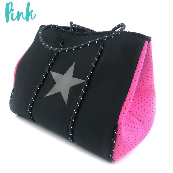 Summer Feelings Neoprene Tote Bag *Final Sale* - Pink