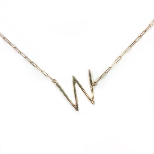 Chain Link Initial Necklace