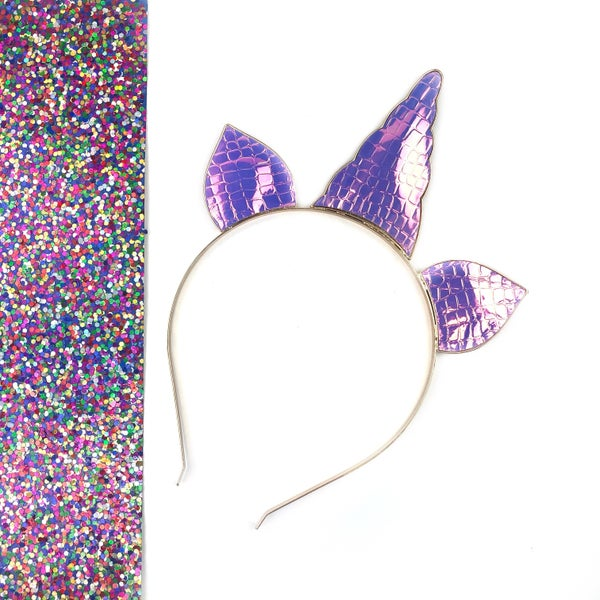 Iridescent Unicorn Headband *Final Sale*