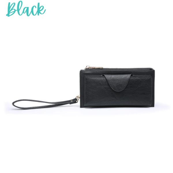 Kyla RFID Wallet with Snap Closure *Final Sale* - Black