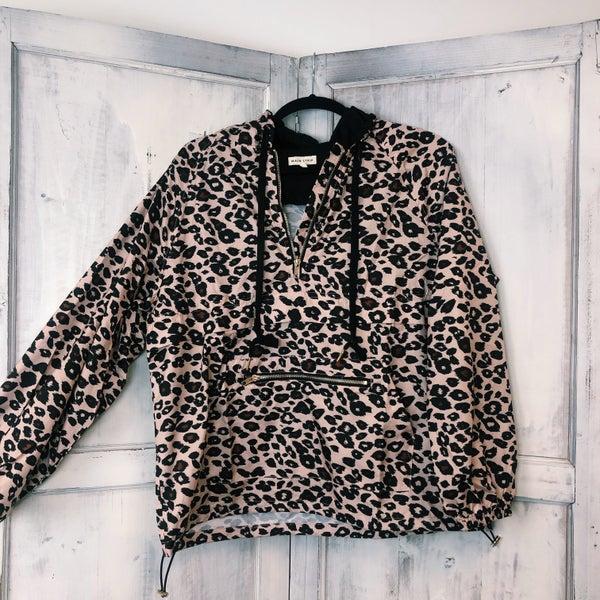 Crazy About It Pullover Rain Jacket - Leopard