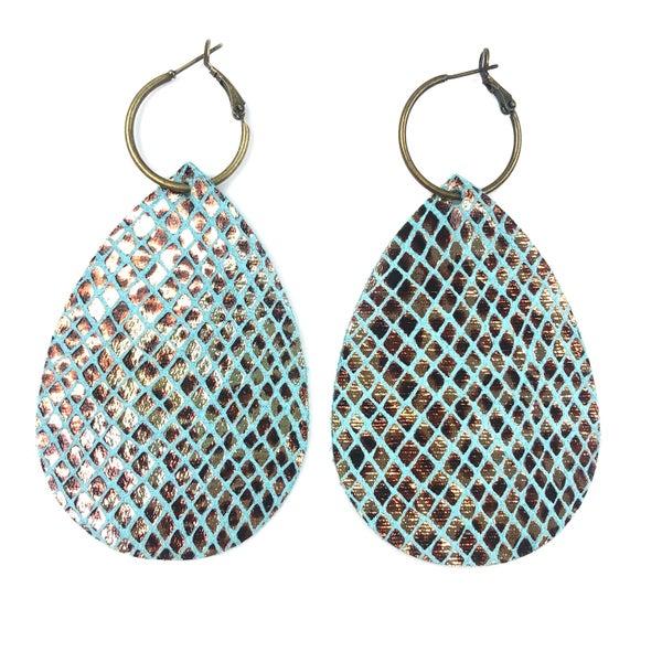 Scaled Cheetah Earrings *Final Sale*
