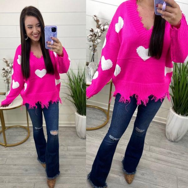 Pretty Hearts Sweater