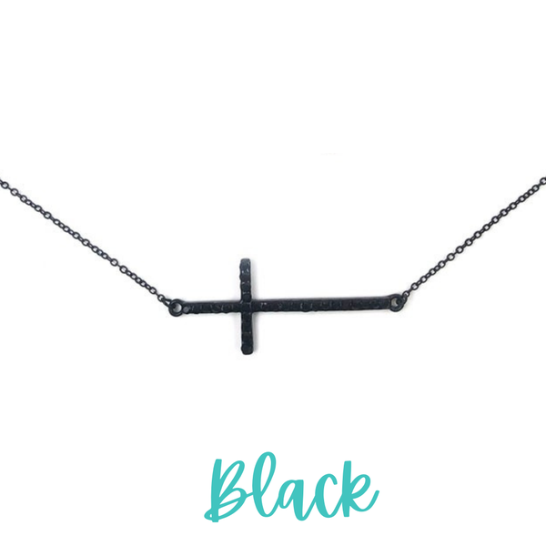 Find The Way Cross Necklace *Final Sale* - Black