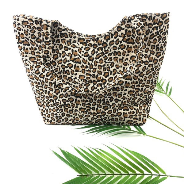Deal of the Day - Leopard Canvas Tote Bag *Final Sale*