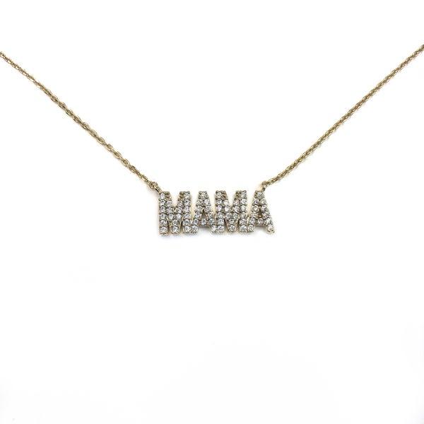 Cubic Zirconia Mama Necklace *Final Sale*