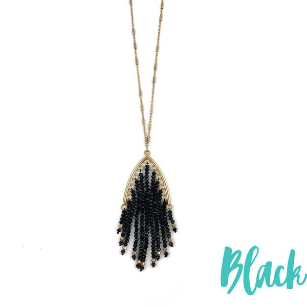 Bead Tassel Necklace *Final Sale* - Black