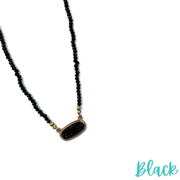 Lift My Spirits Necklace *Final Sale* - Black