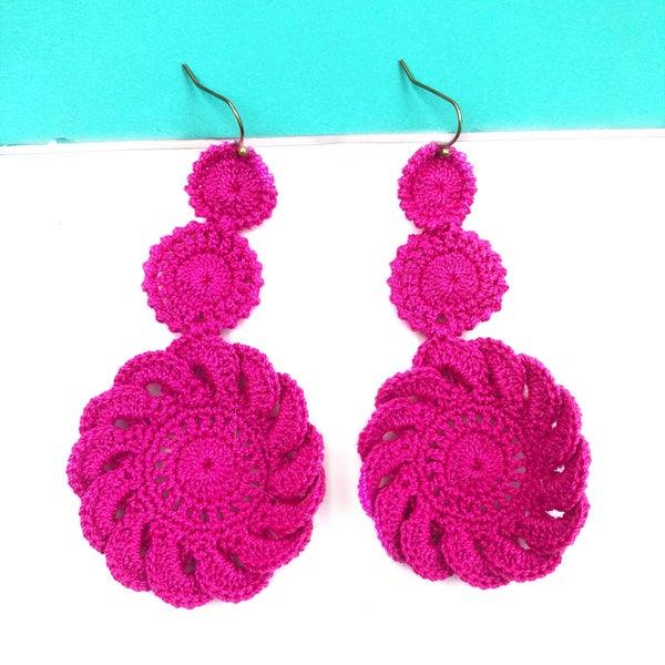 A Crocheted Feeling Earrings *Final Sale*