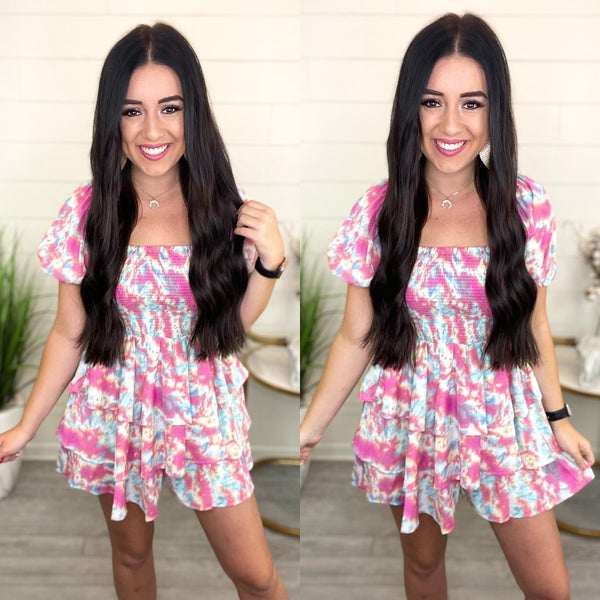 See The Truth Watercolor Romper