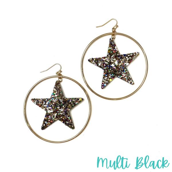 Star Spangled Hoop *Final Sale* - Multi Black