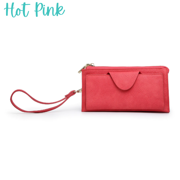 Kyla RFID Wallet with Snap Closure *Final Sale* - Hot Pink