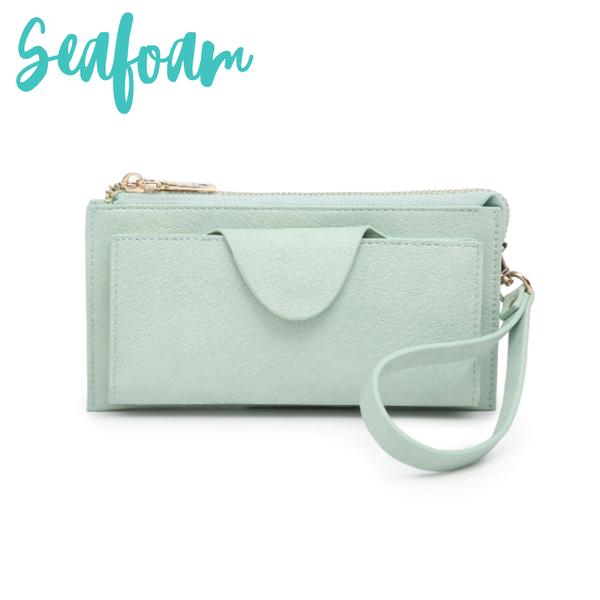 Kyla RFID Wallet with Snap Closure *Final Sale* - Seafoam