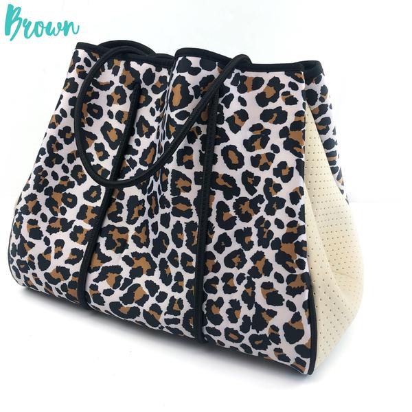 Summer Feelings Neoprene Tote Bag *Final Sale* - Brown