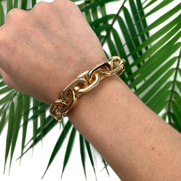 Walk The Line Chain Bracelet