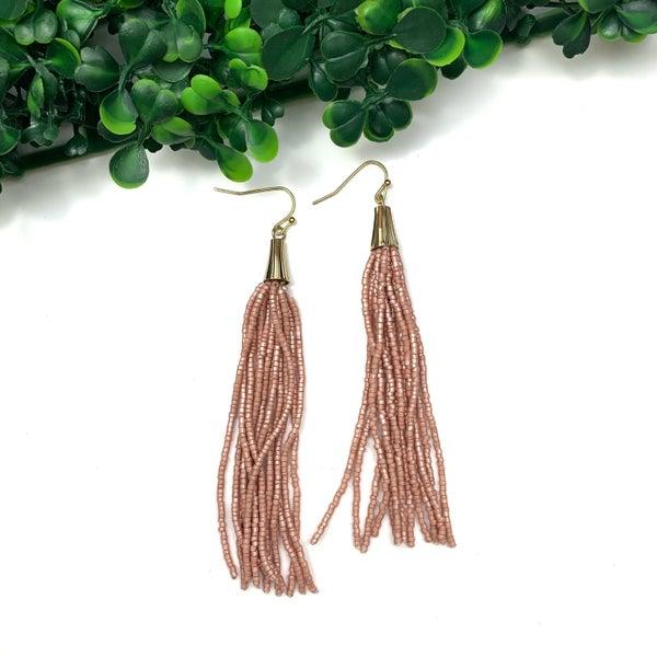 Think About You Tassel Earrings-FINAL SALE