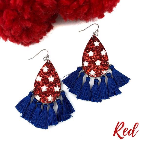 USA Tassel Earrings *Final Sale* - Red